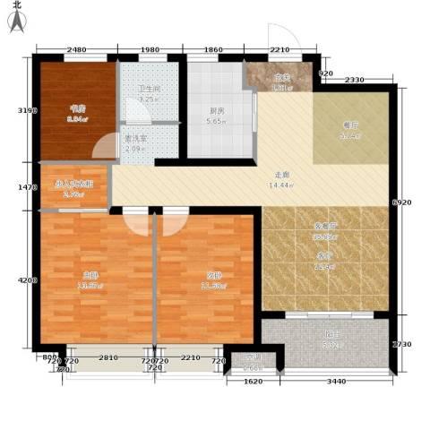 朝阳首府3室1厅1卫1厨98.00㎡户型图