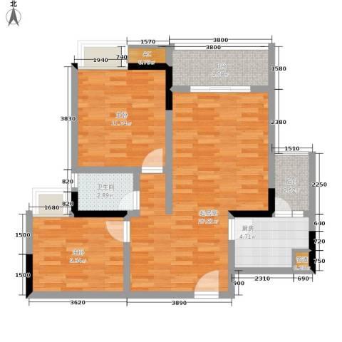 重百小区2室0厅1卫1厨76.23㎡户型图