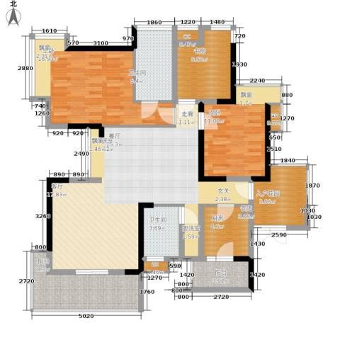 春风城市心筑3室0厅2卫1厨103.38㎡户型图