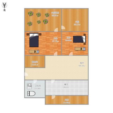 石桥小区2室2厅1卫1厨332.00㎡户型图