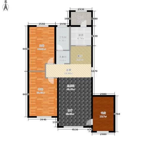 伟业英伦尚城3室0厅1卫1厨161.00㎡户型图