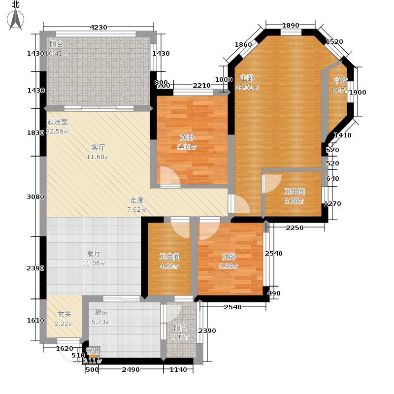 金科10年城96.70㎡三期B5号楼标面积9670m户型