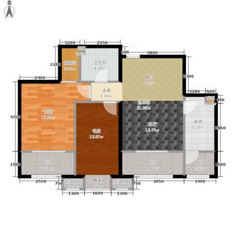 南海国际2室0厅1卫1厨101.00㎡户型图