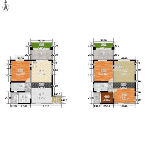 巴国公馆3室1厅2卫1厨207.00㎡户型图