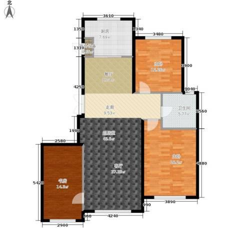伟业英伦尚城3室0厅1卫1厨142.00㎡户型图