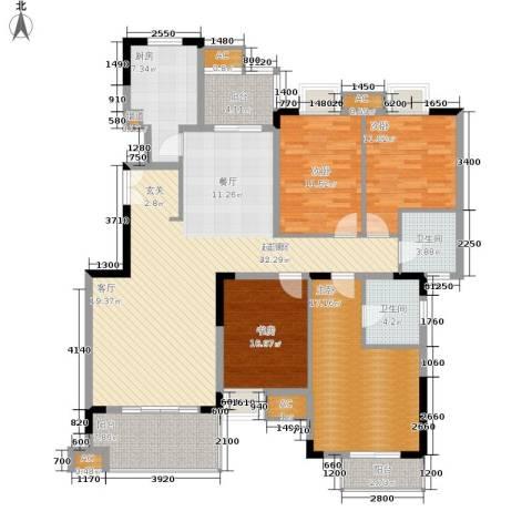 保利高尔夫华庭4室0厅2卫1厨135.00㎡户型图