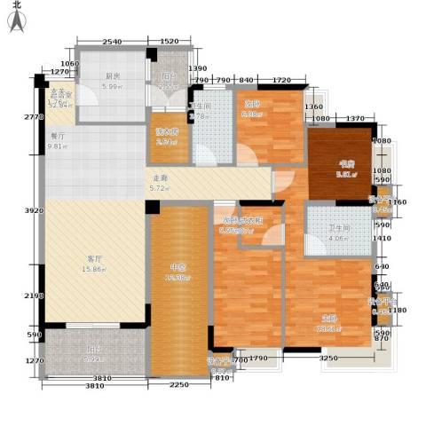 御景天成3室0厅2卫1厨123.00㎡户型图