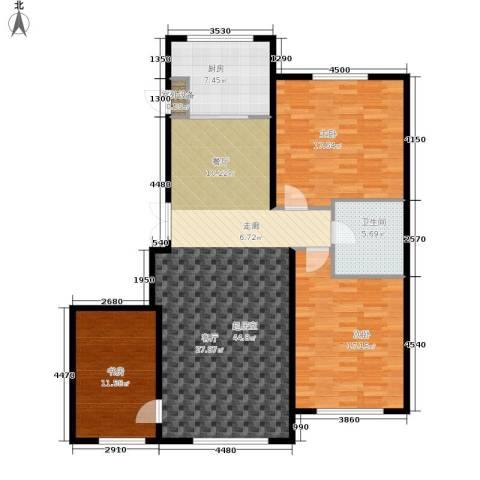 伟业英伦尚城3室0厅1卫1厨143.00㎡户型图