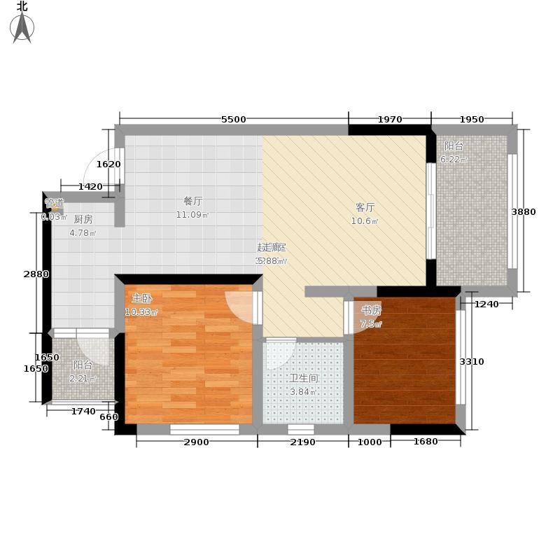 金科10年城62.64㎡三期D9号楼标面积6264m户型