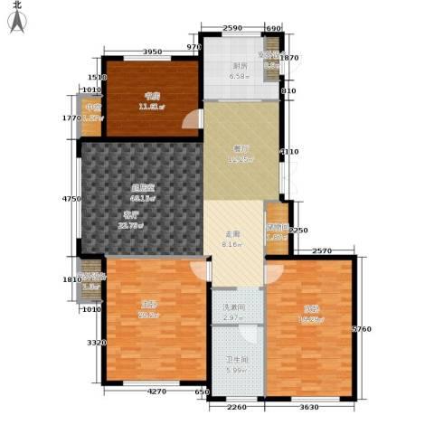 伟业英伦尚城3室0厅1卫1厨158.00㎡户型图