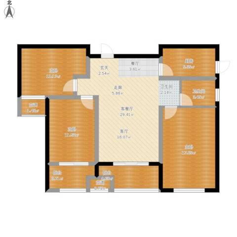 东方今典・御府3室1厅1卫1厨129.00㎡户型图