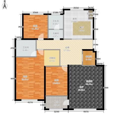 伟业英伦尚城3室0厅2卫1厨188.00㎡户型图