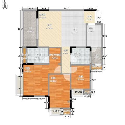 御景天成3室0厅2卫1厨89.00㎡户型图