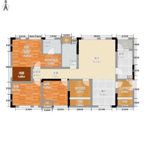 北城国际中心3室0厅2卫1厨112.00㎡户型图