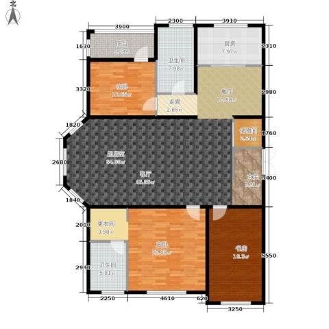 伟业英伦尚城3室0厅2卫1厨202.00㎡户型图