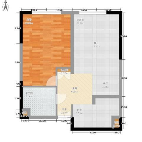 祈年悦城1室0厅1卫0厨59.00㎡户型图
