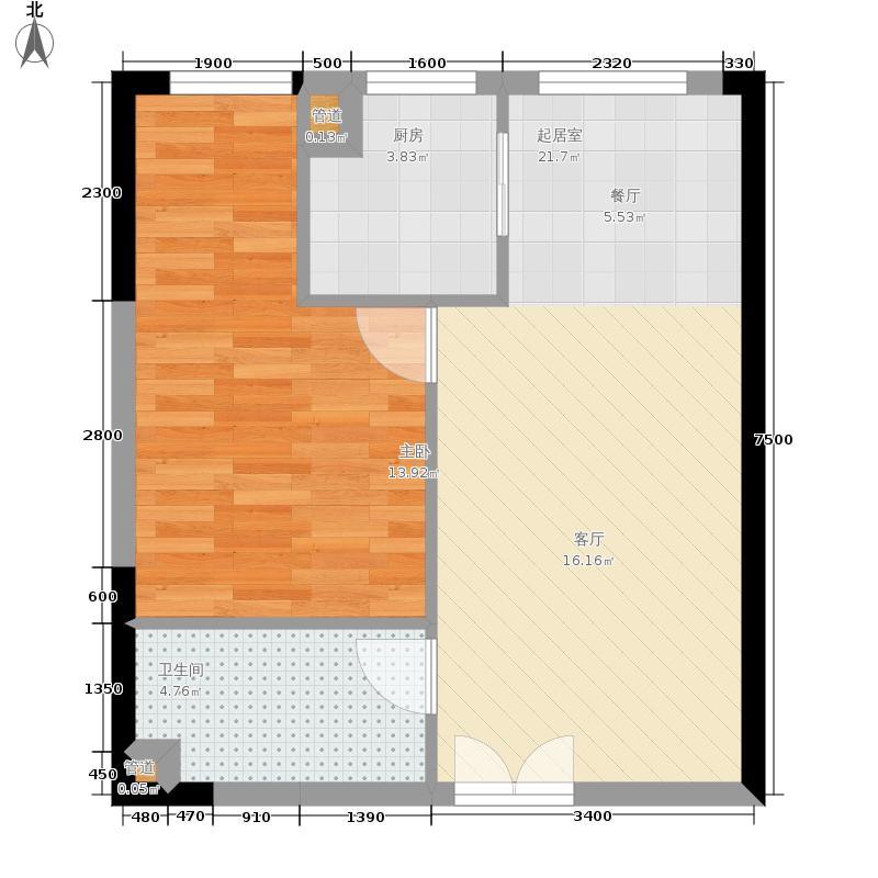 祈年悦城53.20㎡二号楼4/7/10号面积5320m户型