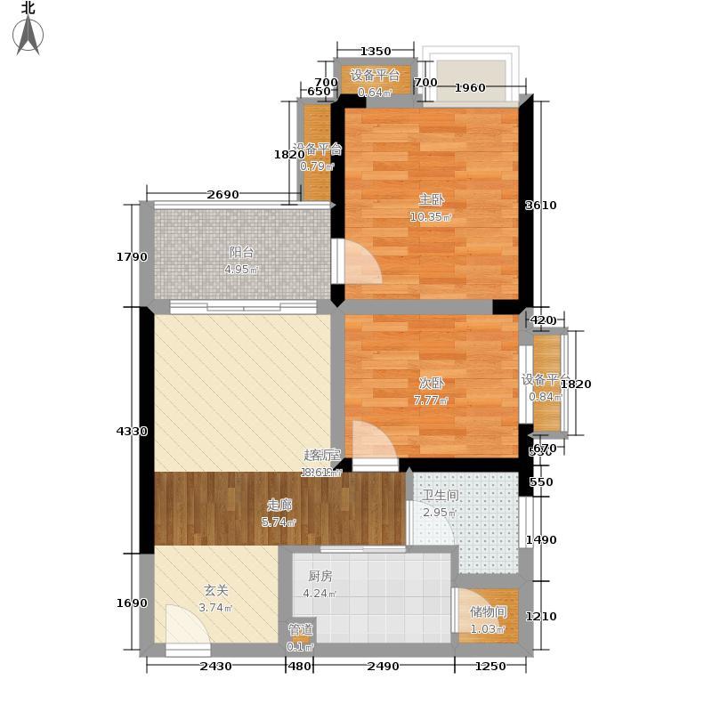 学林佳苑54.08㎡B2、B13面积5408m户型