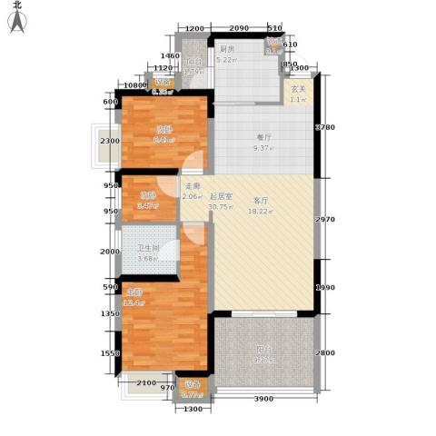 鲁能星城一街区3室0厅1卫1厨110.00㎡户型图