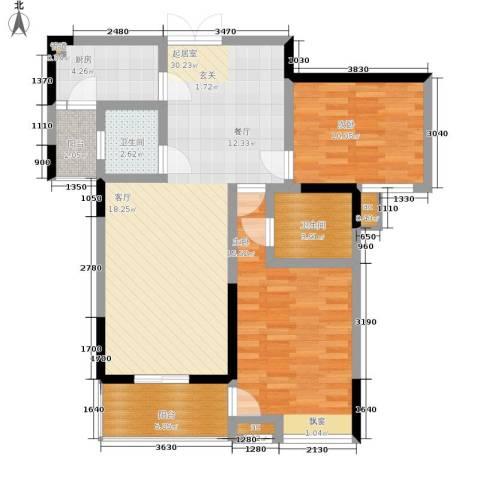 春风城市心筑2室0厅2卫1厨79.00㎡户型图