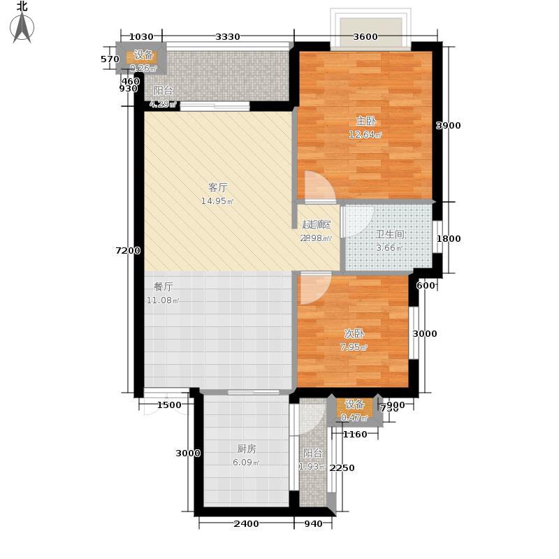 爱加西西里70.97㎡1栋面积7097m户型
