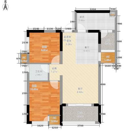 北城国际中心2室0厅1卫1厨70.00㎡户型图