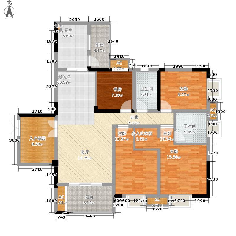 保利高尔夫华庭118.00㎡水岸洋楼面积11800m户型