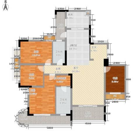 保利高尔夫华庭4室0厅2卫1厨138.00㎡户型图