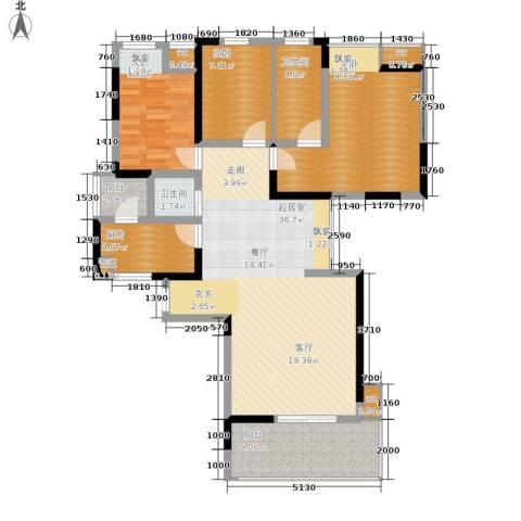 春风城市心筑3室0厅2卫1厨113.00㎡户型图