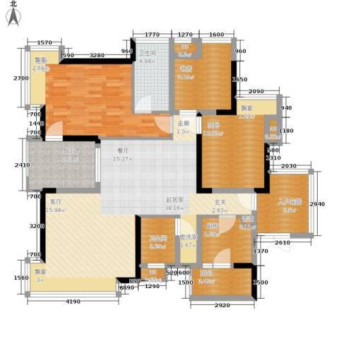 春风城市心筑3室0厅2卫1厨103.72㎡户型图