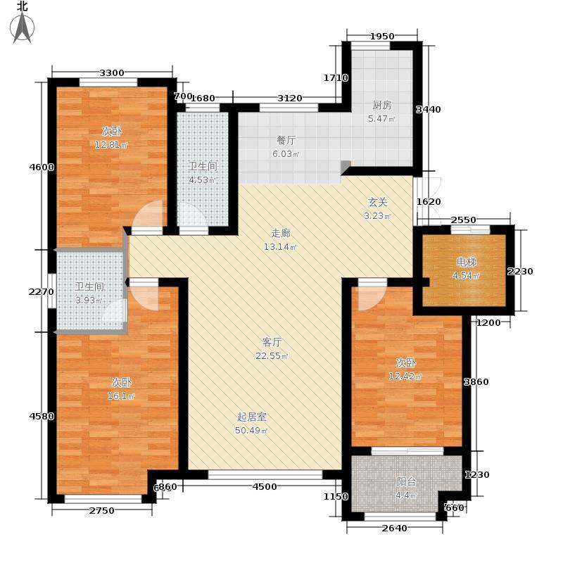 紫睿天和138.68㎡11#D户型3室2厅