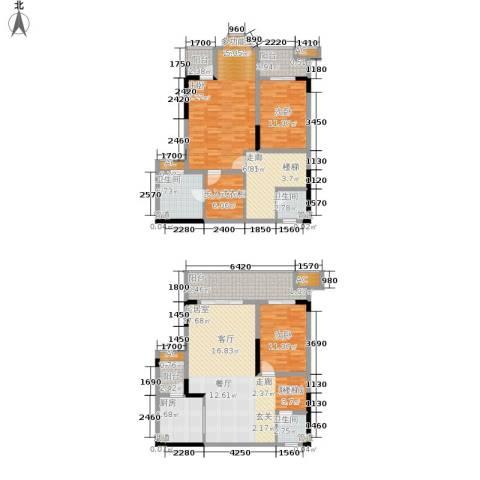 保利高尔夫华庭3室0厅3卫1厨152.00㎡户型图