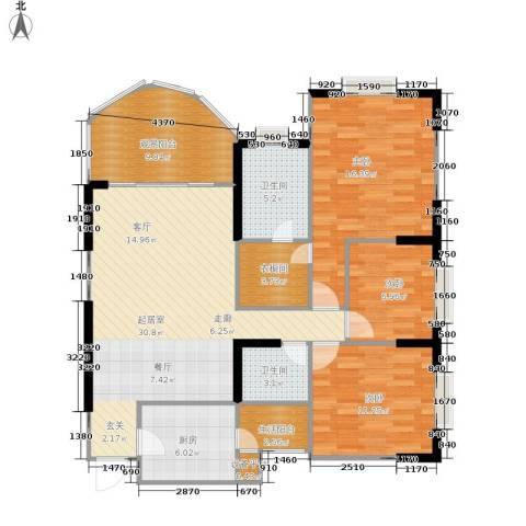 半岛利园3室0厅2卫1厨106.00㎡户型图