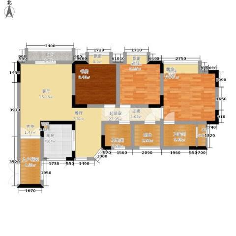枫桥水郡3室0厅2卫1厨115.00㎡户型图