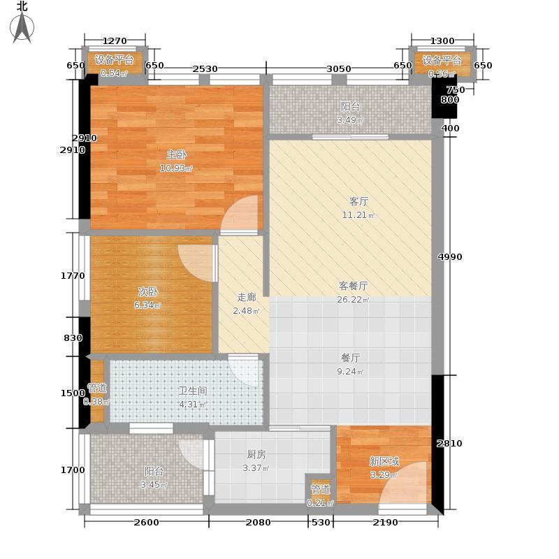 东方天城78.13㎡1栋F1-2公寓-01户型