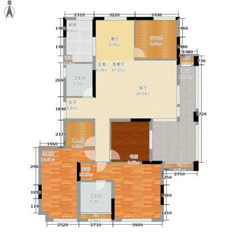 蔚蓝世纪3室1厅2卫1厨167.00㎡户型图