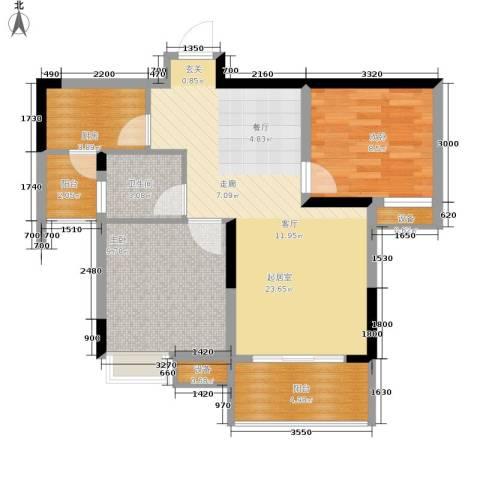 金科云湖天都2室0厅1卫1厨59.00㎡户型图