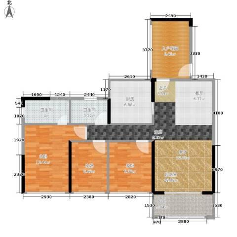 德洲城3室0厅2卫1厨119.00㎡户型图