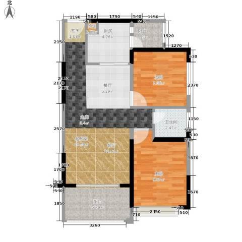德洲城2室0厅1卫1厨78.00㎡户型图