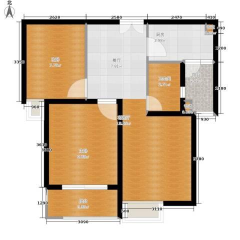 文化七村2室1厅1卫1厨59.00㎡户型图