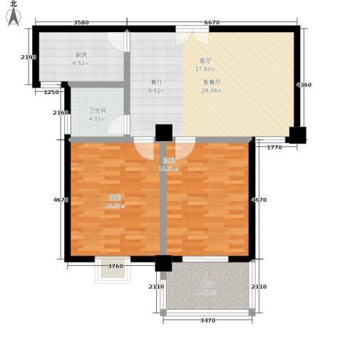 巴渝佳梦2室1厅1卫1厨83.00㎡户型图