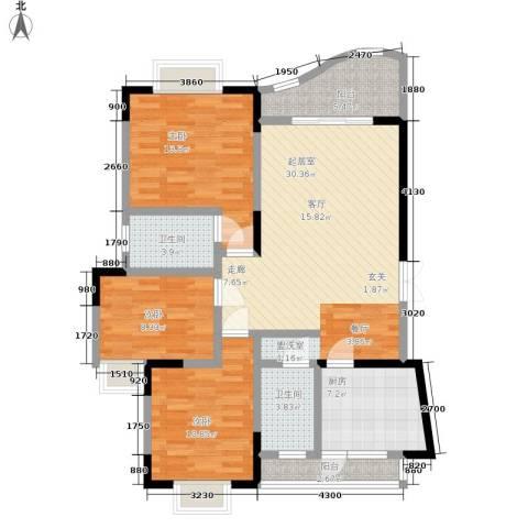 锦绣江南3室0厅2卫1厨97.00㎡户型图