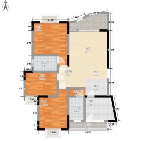 锦绣江南3室0厅2卫1厨126.00㎡户型图