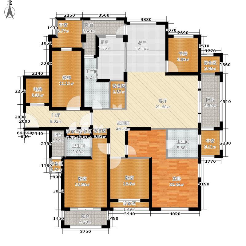 绿城翡翠湾174.79㎡3#4#5#-H2户型4室2厅