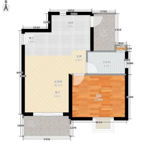 金佛美庐1室0厅1卫0厨60.00㎡户型图
