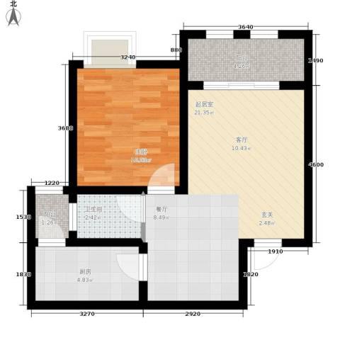 金佛美庐1室0厅1卫1厨61.00㎡户型图
