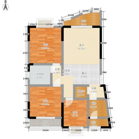 锦绣江南3室0厅1卫1厨89.00㎡户型图