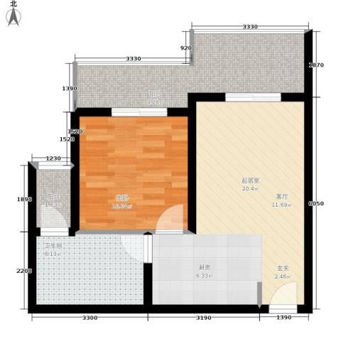 金佛美庐1室0厅1卫0厨50.00㎡户型图
