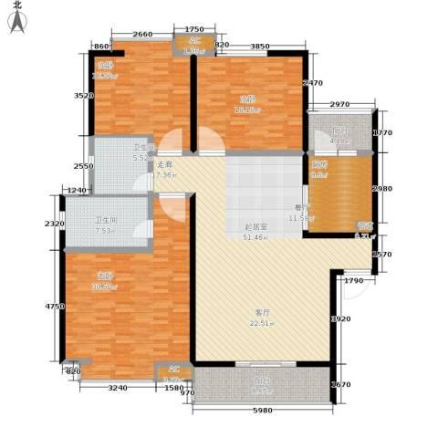 重百小区3室0厅2卫1厨153.00㎡户型图