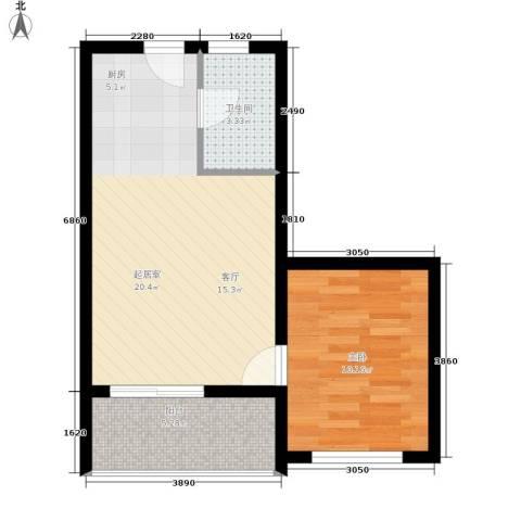 金佛美庐1室0厅1卫0厨46.00㎡户型图